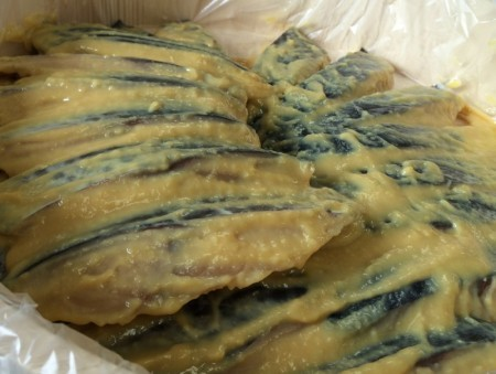 サワラの味噌漬けと明太漬けのセット